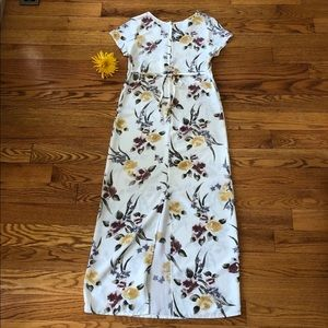 SYKO Dresses - SYKO Full Length Floral Dress with Tie-Back